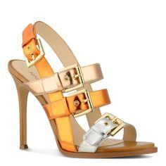 Howrude Metallic Buckle Open Toe High Heel Sandals | Nine West