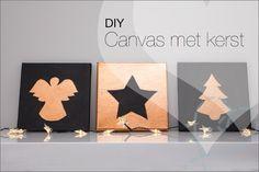 DIY: Het maken van je eigen schilderij voor kerst, makkelijk te maken. Als je alles bij de Action koopt ook nog eens goedkoop :-).