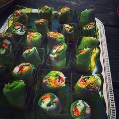 Fresh Vietnamese Summer Rolls with Roasted Duck, Mint Coriander Lime Sauce Vietnamese Summer Rolls, Coriander, Fresh Rolls, Roast, Lime, Stuffed Peppers, Vegetables, Ethnic Recipes, Kitchen