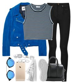 """""""Untitled #896"""" by isacris-28 ❤ liked on Polyvore featuring Yves Saint Laurent, Acne Studios, A.L.C., Givenchy, adidas, Illesteva and Lipsy"""