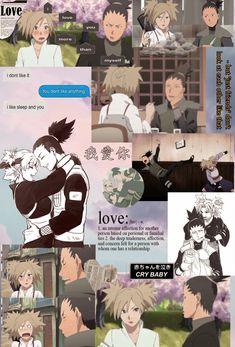 Follow @by_labi on instagram for more 🙃 Shikatema, Boruto, Shikamaru And Temari, Nara, Series Movies, Anime Naruto, Pixar, Cartoons, Wallpapers