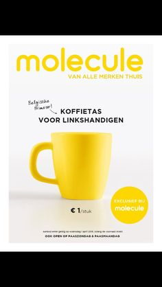A coffee mug for lefties... Only on April first at www.molecule.be
