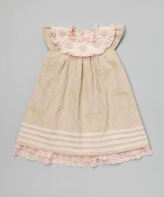 Loving this Trish Scully Child Pink Lace Beaded Cap-Sleeve Dress - Infant, Toddler & Girls on #zulily! #zulilyfinds