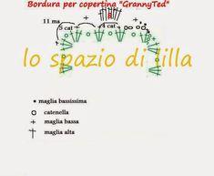 """Copertina per neonato all'uncinetto """"BigGranny&Teddy"""" by Alina C.reations con schema"""