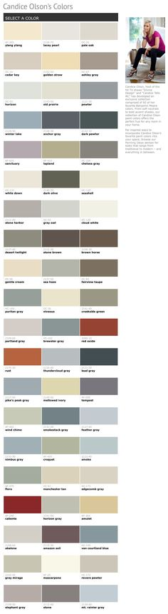 60 Of Candice Olson S Favorite Benjamin Moore Paint Colors