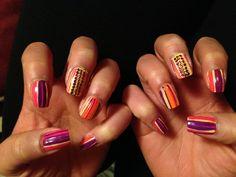 Glam stripes. Nails nails nails