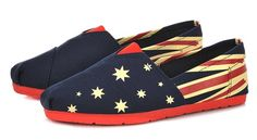 JiYe Women's National Flag Rubber Sole Canvas Slip-On Loafer,Blue,10 M US