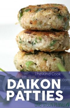 Daikon Patties [Vegan] http://onegr.pl/1qZ1RV3 #veganrecipe #eatclean