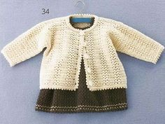 Fancy Baby Girl Jacket free crochet pattern.