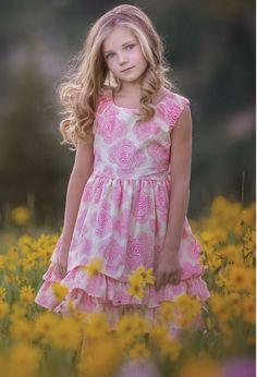 Persnickety Clothing - Daffodils & Dandelions Adeline Dress in Pink--Kids Easter dress from My Little Jules Easter Dresses For Kids, Easter Outfit For Girls, Cute Outfits For Kids, Little Girl Dresses, Girls Dresses, Flower Girl Dresses, Girls Clothing Brands, Kid Clothing, Persnickety Clothing