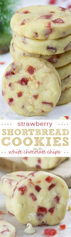 If you are looking for the best Christmas cookie recipe White Chocolate Strawberry Shortbread Cookies is really over- the- top!!!