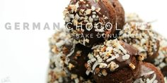 German Chocolate Cake Donut Holes - A Dash of Sanity