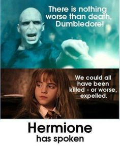 Hermione Memes: Killed, or worse, expelled