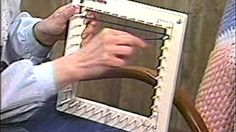 How to make square weaving loom, and how to use it - with Ruby Stedman - YouTube