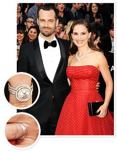 Natalie Portman and Benjamin Millepied  Benjamin Millepied proposed to Natalie Portman in 2010 with Jamie Wolf-designed ring. The ring was crafted from recycled platinum and conflict-free diamonds.
