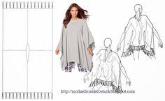 Moda e Dicas de Costura: PONCHO FÁCIL DE FAZER