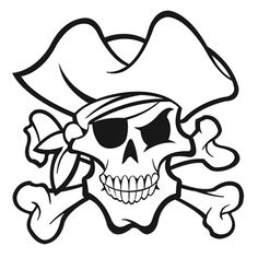Logo Pirate, Pirate Shirts, Pirate Images, Pirate Pictures, Shark Coloring Pages, Colouring Pages, Pirate Birthday, Pirate Theme, Decoration Pirate