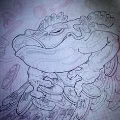 """""""Tex inspired Frogger in progress #frog #toad #money #fortune #moneytoad…"""