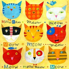 meow! Nancy Wolff, I love her whimsy. Now where to find her fabrics.?