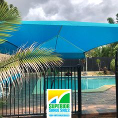 Happy 2021🥳 We are back on the job again after our break. Hope you had a good one.   This Pool Shade Sail installation at Petrie was done just before Christmas using the hip and ridge structure with two privacy curtains. Looks pretty cool 😎  We also install Driveway, Carport, Caravan and Patio shade sails. For an Obligation Free Quotation call us on 📞1300MYSHADESAILS or 0429 220 298.