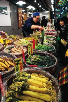 From SAVEUR Issue #154Though I've visited so many great food bazaars in Japan, for my money, the centuries-old Nishiki market, located in the old imperial capital of Kyoto, is the country's most picturesque. Within the six-block covered arcade, shopkeepers entice housewives in full kimono, local kaiseki chefs, and curious tourists with katsuobushi (dried bonito), freshly roasted green tea, and Kyoto-style confections. I, too, am tempted by everything here, but I have my favorites. Keep ...