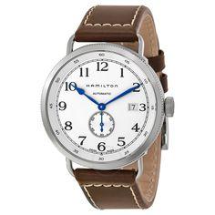 Hamilton Navy Pioneer Automatic Silver Dial Men's Watch H78465553 - Khaki Navy - Hamilton - Watches - Jomashop