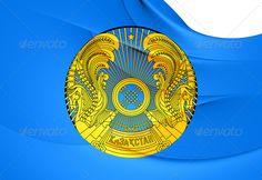 President of Kazakhstan Flag ...  3d, arms, asia, asian, background, close-up, coa, coat of arms, coats, curve, emblem, ensign, flag, fluttering, full, horizontal, illustration, insignia, kazakh, kazakhstan, macro, national, president, president of kazakhstan, render, republic of kazakhstan, seal, standard, state, symbol, three-dimensional, wave, waving, white, wind