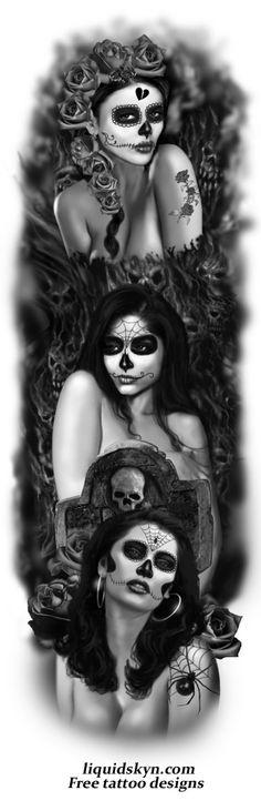 day of the dead tattoes   DAY OF THE DEAD TATTOO SLEEVE 1