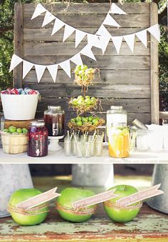 Homemade Apple of my eyes baby shower Rustic u. Homemade Apple My Eyes Baby Shower with a Baby Shower Desserts, Baby Shower Parties, Baby Shower Themes, Baby Shower Decorations, Baby Shower Gifts, Shower Ideas, Baby Shower Fall, Gender Neutral Baby Shower, Fall Baby