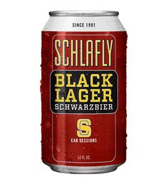 Schlafly Beer Black Lager Session Can