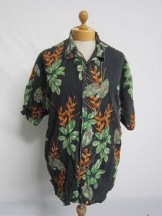 Vintage 90s Awesome HAWAIIAN Surf Nice Indie Stag Beach Shirt XL
