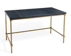 The Argo Writing Table by Soane Britain. For more details, go to soane.co.uk.