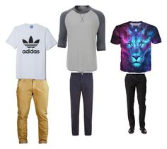 """Casual Clothing"" by menswearinfo on Polyvore featuring BOSS Hugo Boss, Ermenegildo Zegna, LE3NO, adidas, men's fashion and menswear"