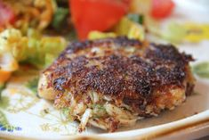 Pan Fried Crab Cakes - Seasoned crab mixed with freshly toasted bread ...