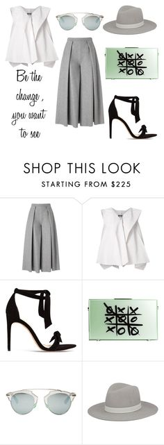 """""""Be the change ...."""" by alex-hllnz ❤ liked on Polyvore featuring Rejina Pyo, Issey Miyake, Alexandre Birman, Christian Dior and Janessa Leone"""