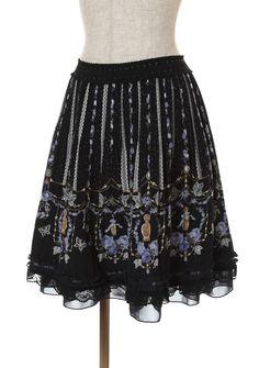 パネル香水瓶柄プリーツスカート Tokyo Shopping, Sequin Skirt, Ballet Skirt, Sequins, Skirts, Collection, Fashion, Woman, Moda
