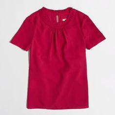 Factory ruffle top : blouses/tees | J.Crew Factory