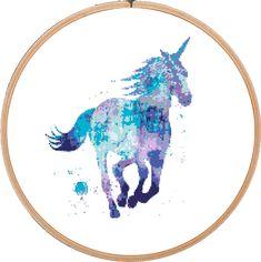(10) Name: 'Embroidery : Unicorn Horse Cross Stitch Pattern