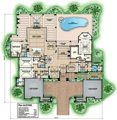 Home floor plan beach house plans, dream house plans, house floor plans The Plan, How To Plan, Mediterranean House Plans, Mediterranean Style, Dream House Plans, House Floor Plans, Küchen Design, House Design, Outdoor Kitchen Design