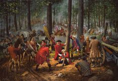 """The Wounding of General Braddock,"" by Robert Griffing"