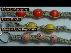 How to Macrame, Basic Knots, Make a Key chain or a Bracelet Day 27
