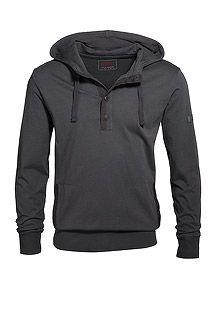 heavy cotton jersey hoodie