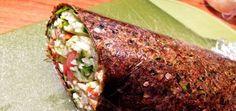 Eggplant Tomato Wrap with Spicy Sweet Chili Sauce - Raw Food Magazine