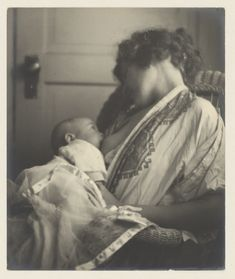 Mother Breast-feeding Her Baby by Louis Fleckenstein, ca. 1900