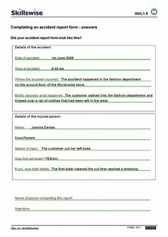 Accident Report form   Peterainsworth