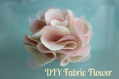 Fabric Flowers : DIY Fabric Flower {Perfect for headbands, clips, or a brooch!}