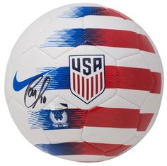 bfcaf683242 Christian Pulisic Signed 2018 Prestige Nike Team USA Nike Soccer Ball Panini