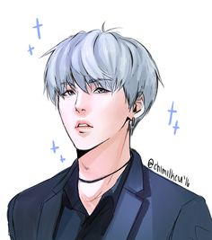yoongi practice doodle in my original style! i've been having qualms about doing this for a while, but i figured i won't get anywhere if i don't do it, so here we are! i'm sorry he kinda looks like an otome game character lol but well expect more of...