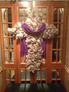 XXL Beautiful Cross Wreath. Perfect for Easter by BigBlueEnvy, $115.00