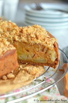 Recette Vegan : {Gâteau aux pommes façon crumble} - La Gourmandise selon Angie